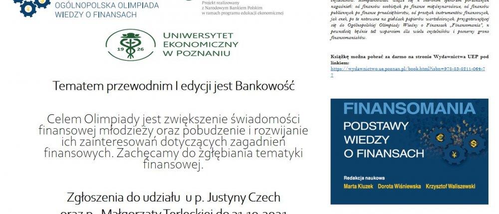 Finansomania - Ogólnopolska Olimpiada Wiedzy o Finansach