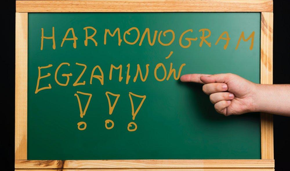 Harmonogram egzaminów zawodowych styczeń 2021