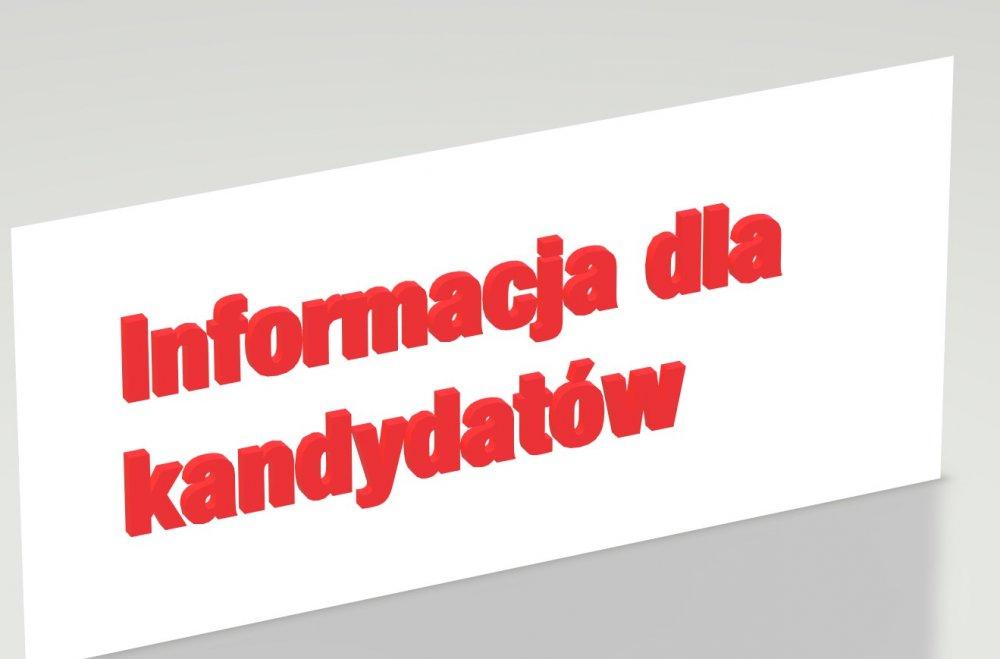 Tekst - Informacja dla kandydatów